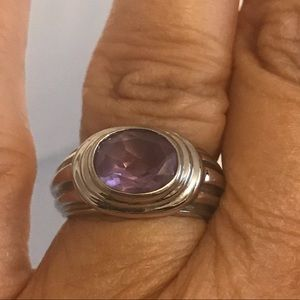 Jewelry - 925 Sterling Silver & Amethyst Ring